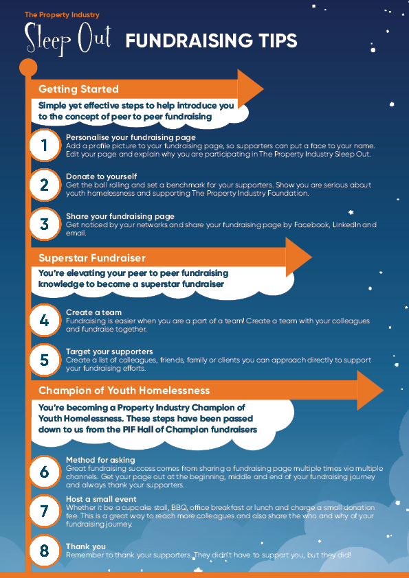 Sleep Out QLD Fundraising Tips